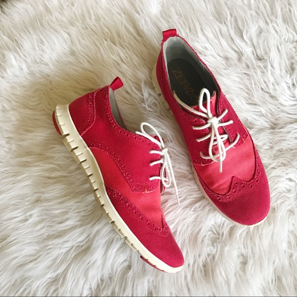 Cole Haan Shoes Grand Os Red Wingtip Oxford Sneaker Poshmark